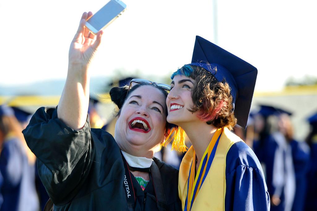 . LONG BEACH - 06/17/2015 - (Mark Savage) Millikan High School graduation at Long Beach City College: Veteran\'s Memorial Stadium.