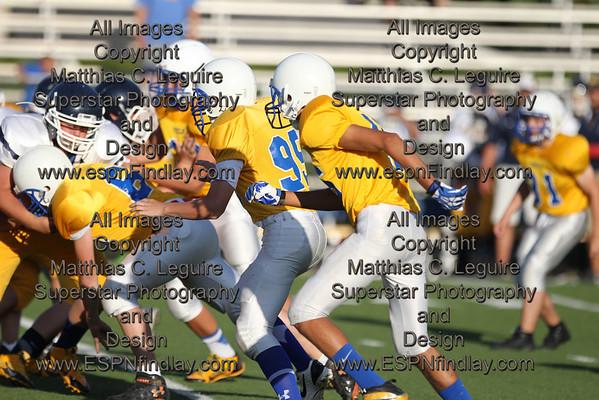 2013-09-04 Washington at Findlay 8th Grade Football