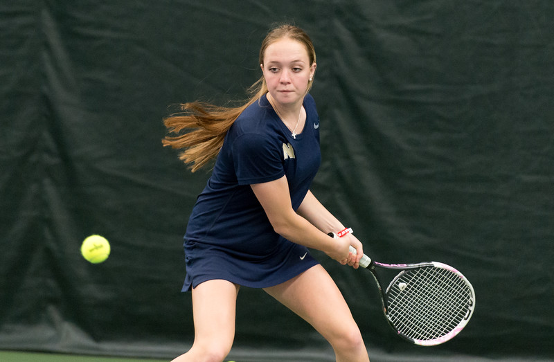 04/26/19  Wesley Bunnell | Staff  Newington girls tennis vs Maloney on Friday afternoon at the Newington Tennis Center. Abby Molloy in her #4 match.