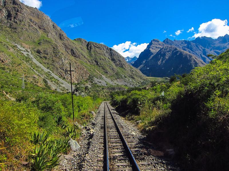 Peru rail - heading towards Machu Picchu/