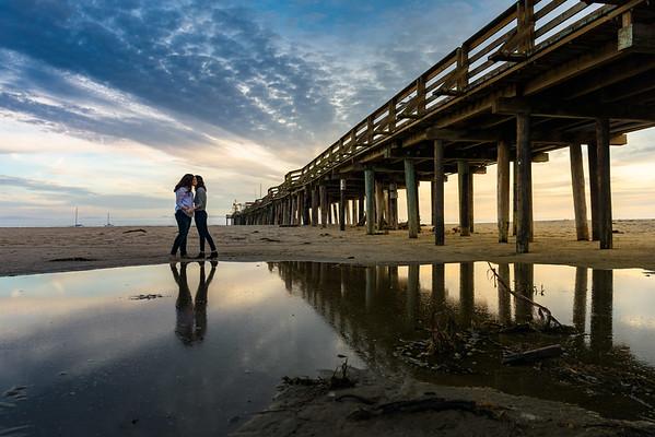 Megan and Emily @ Capitola Beach