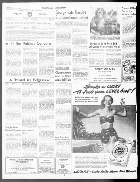 Daily Trojan, Vol. 40, No. 95, March 10, 1949