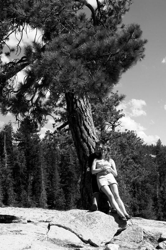 dave and I agains tthe tree bw.jpg