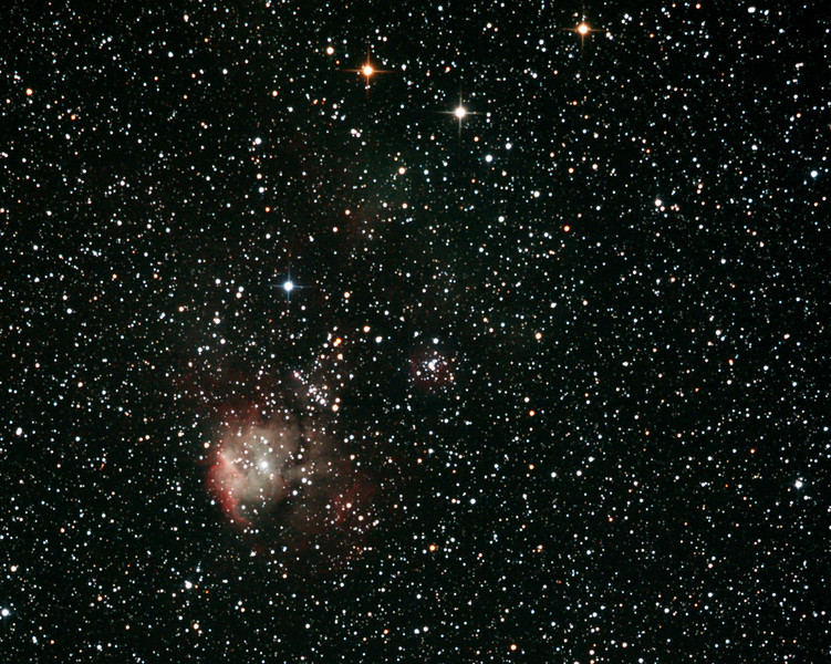 NGC2467 - Gum 9 - Galactic Nebula in Puppis - 10/1/2013 (Processed cropped stack)