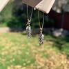 1.50ctw (est) Victorian Leaf Component Earrings 20