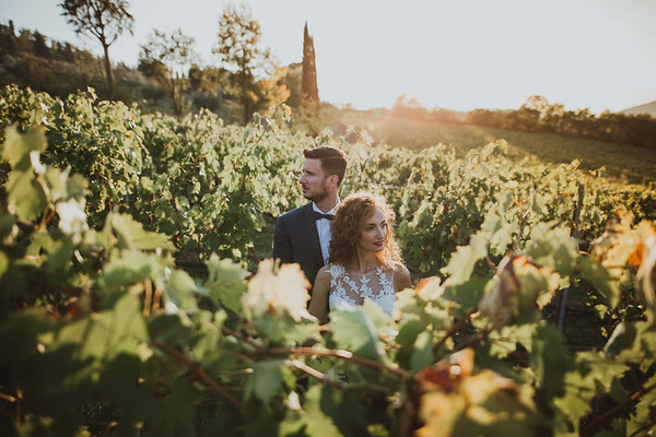 A romantic wedding in Italy