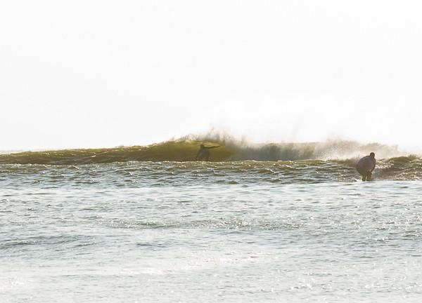 Surfing after Hannah 08 Ocean City NJ