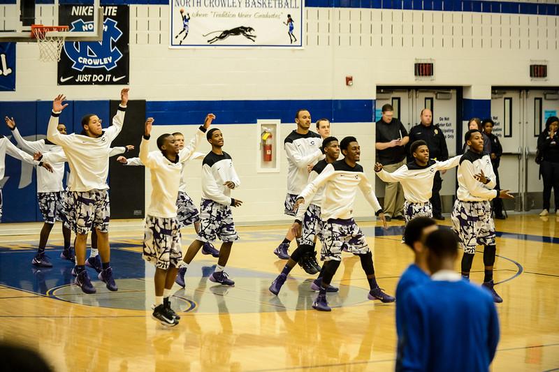 Basketball Varsity vs  Crowley 12-11-13-9