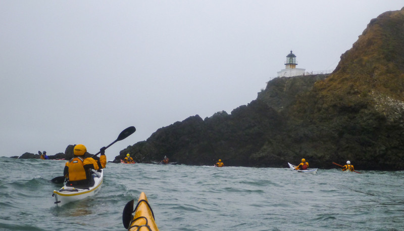 Made it to Point Bonita under foggy skies and calm seas.