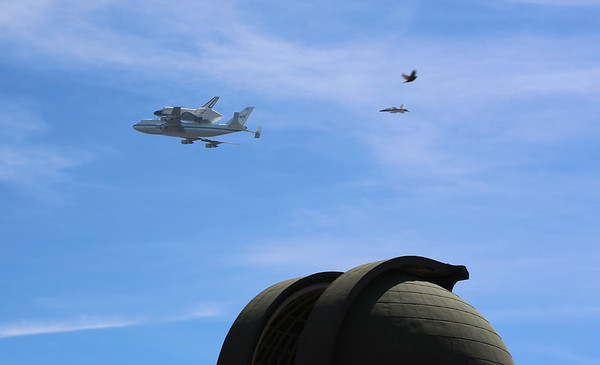 Shuttle fly-by