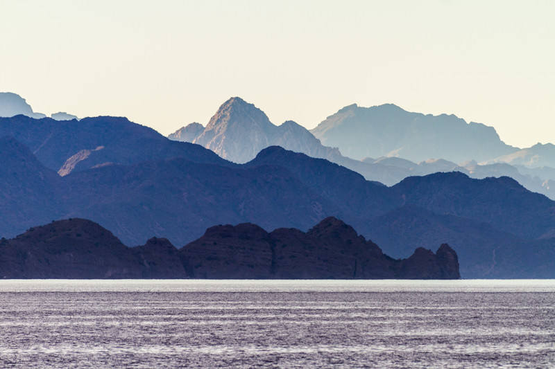 View of mountain ranges and sea - Mexico