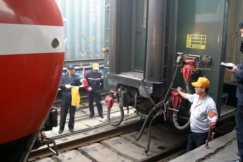 Xian station crew Qinghai -Beijing to Tibet Railway, Beijing to Lhasa  Oct  2006