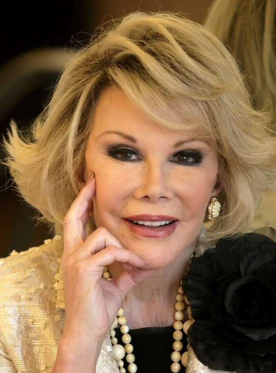 . Joan Rivers passed away on September 4, 2014 after suffering respiratory and cardiac arrest during vocal cord surgery on August 28, 2014. (File, Oct 5, 2009) (AP Photo/Lionel Cironneau)
