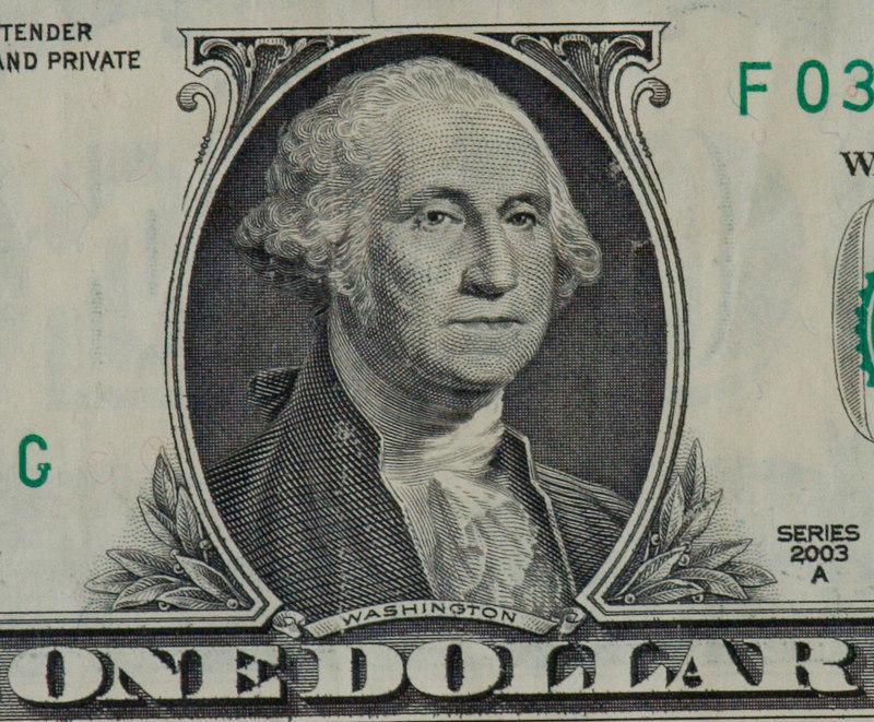 Dollar bill at 12 feet. 100% crop. ISO 400, f/5.6, 1/25, 360mm, indoor light, camera on tripod
