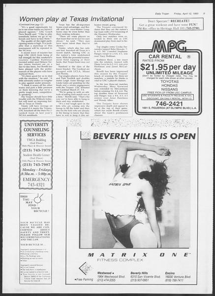 Daily Trojan, Vol. 98, No. 58, April 12, 1985