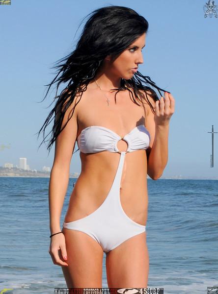 beautiful woman sunset beach swimsuit model 45surf 464..