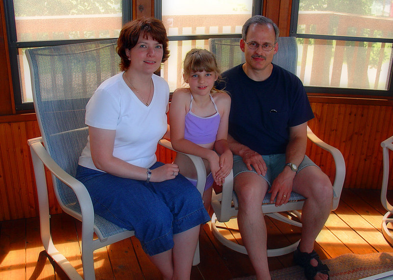 Rick's cousin Carrie, with daughter Sophia and husband Tony