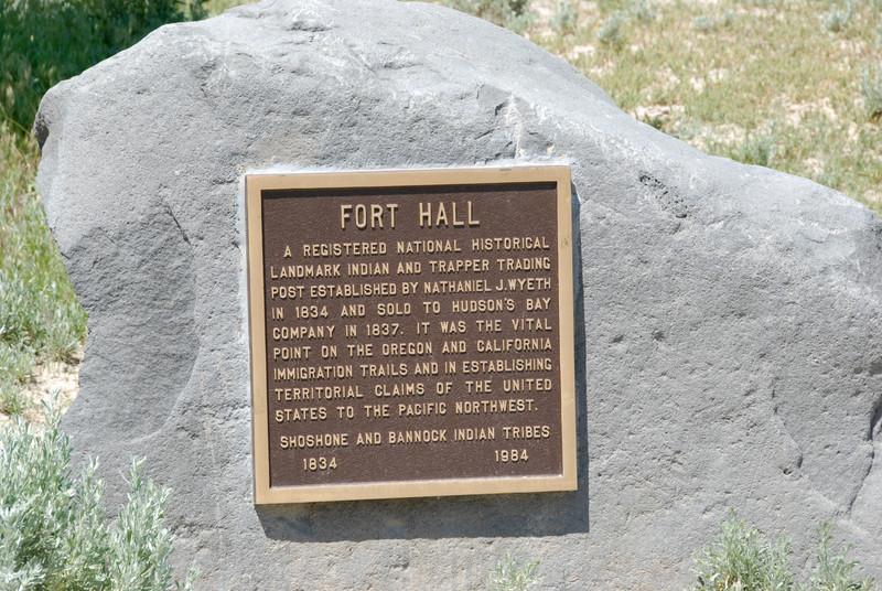 Fort Hall Plaque