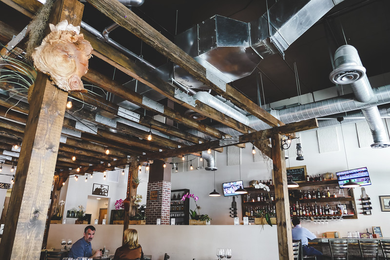 The Brick American Kitchen & Bar, Downtown Dadeland - the ceiling