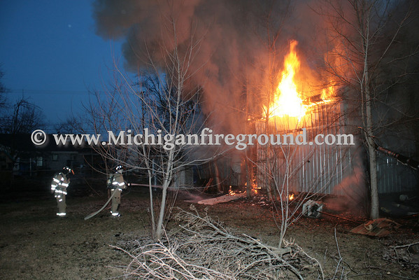 4/9/14 - Delhi Twp pole barn fire, 5046 W. Holt Rd