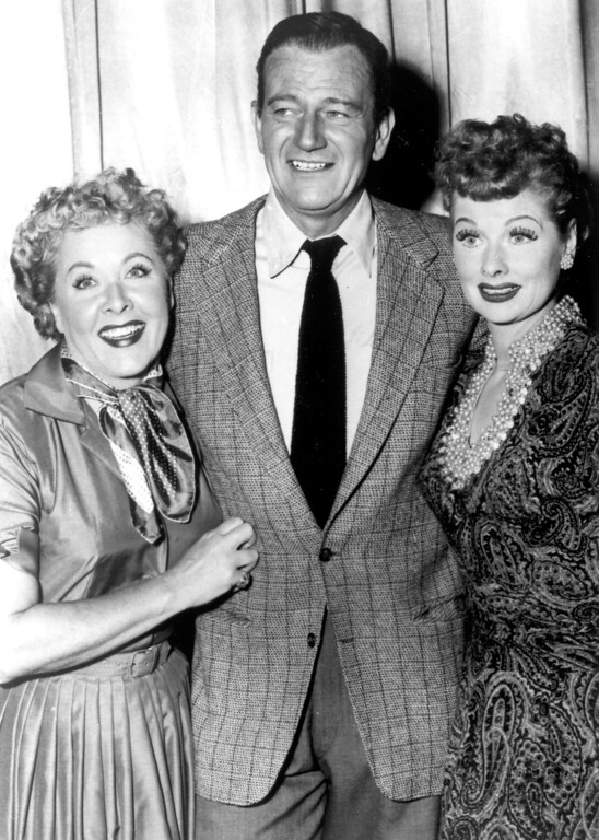". ""I Love Lucy\""  Vivian Vance, John Wayne and Lucille Ball.   Los Angeles Daily News file photo"
