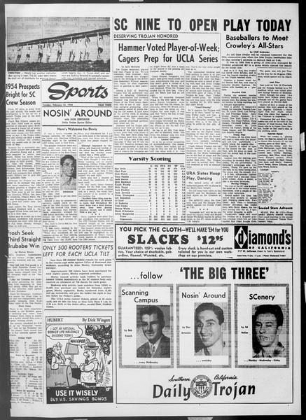 Daily Trojan, Vol. 45, No. 79, February 23, 1954
