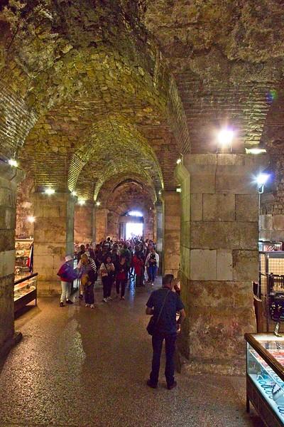 Diocletian's Palace Cellars, Split, Croatia