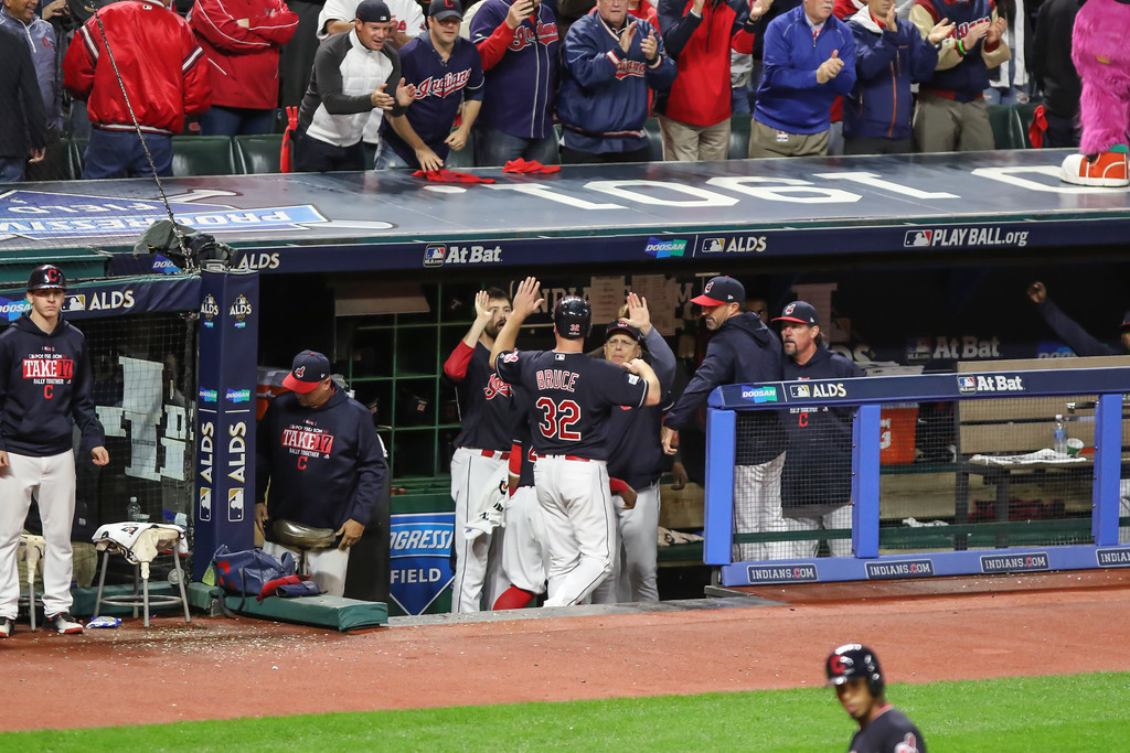 . Tim Phillis - The News-Herald Action from Game 5 of the ALDS between the Indians and the Yankees at Progressive Field in Cleveland.
