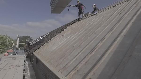 Dak isolatie vanaf buitenkant.