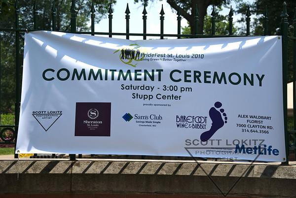 Pride St. Louis Commitment Ceremony