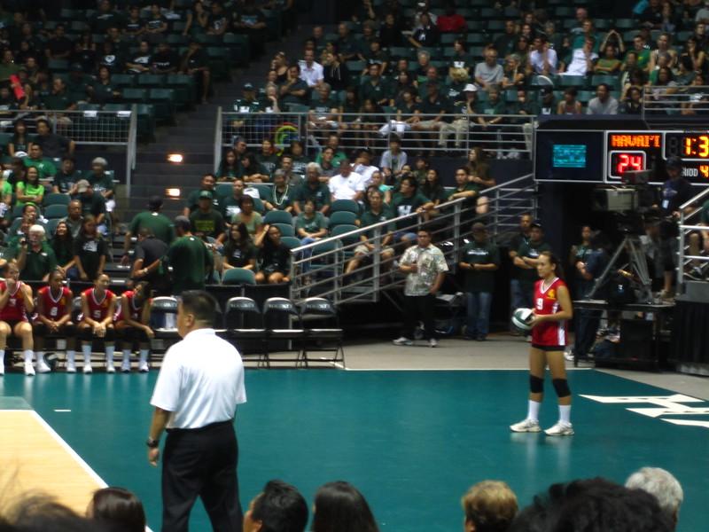 Hawaii - Wahine Volleyball Game-17.JPG