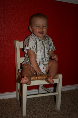 Cody's 8 month chair - June 2010