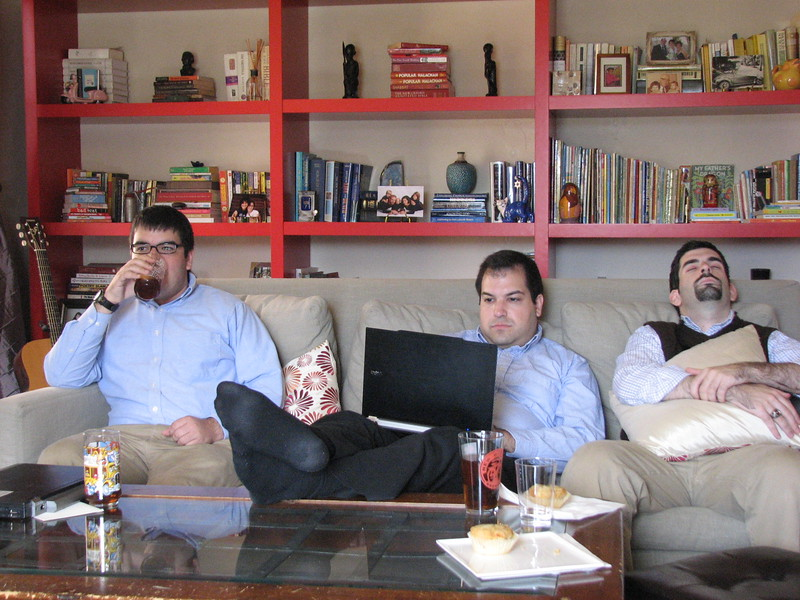 Sometimes, the baby slept and the uncles were off-duty (photo by Jamie Trachtenberg)