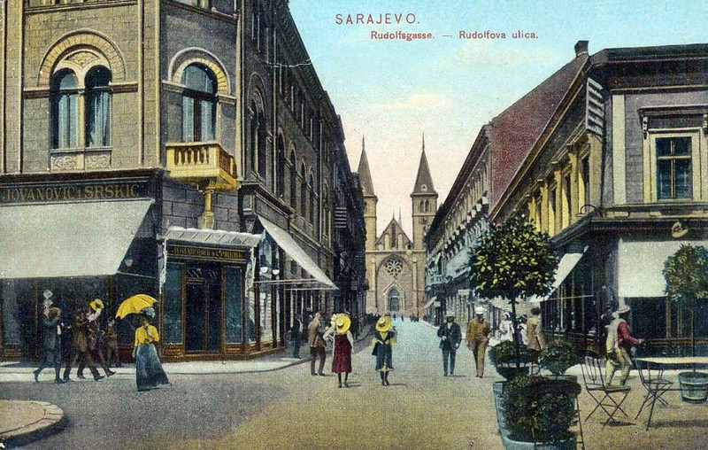 Sarajevo za vrijeme austrougarske uprave. Danas je ovo Štrosmajrova ulica.