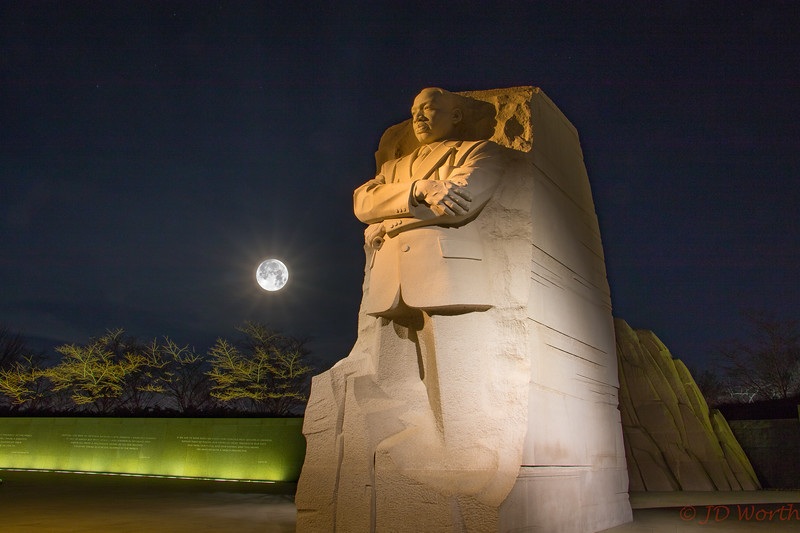 Martin Luther King Memorial Supermoon January 31, 2018 - H4