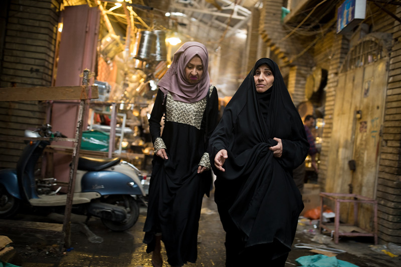 Two Iraqi ladies, Souk al-Safafeer, Central Baghdad.