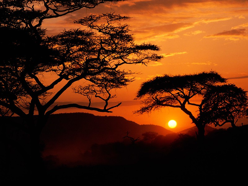 Serengeti National Park Sunset, Tanzania.jpg