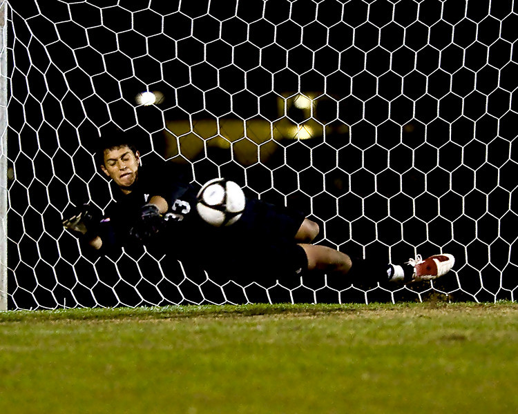The final four game for WInthrop against Coastal Carolina was tied after regulation and two overtimes.  This save by Enrique Miranda gave the victory and trip to the finals to Winthrop.