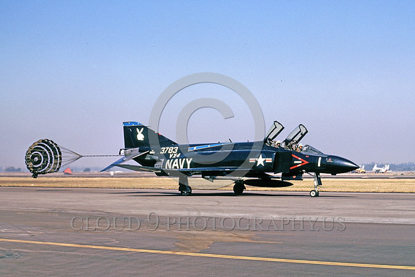 U.S. Navy McDonnell Douglas F-4 Phantom II Jet Fighter Parachute Airplane Pictures