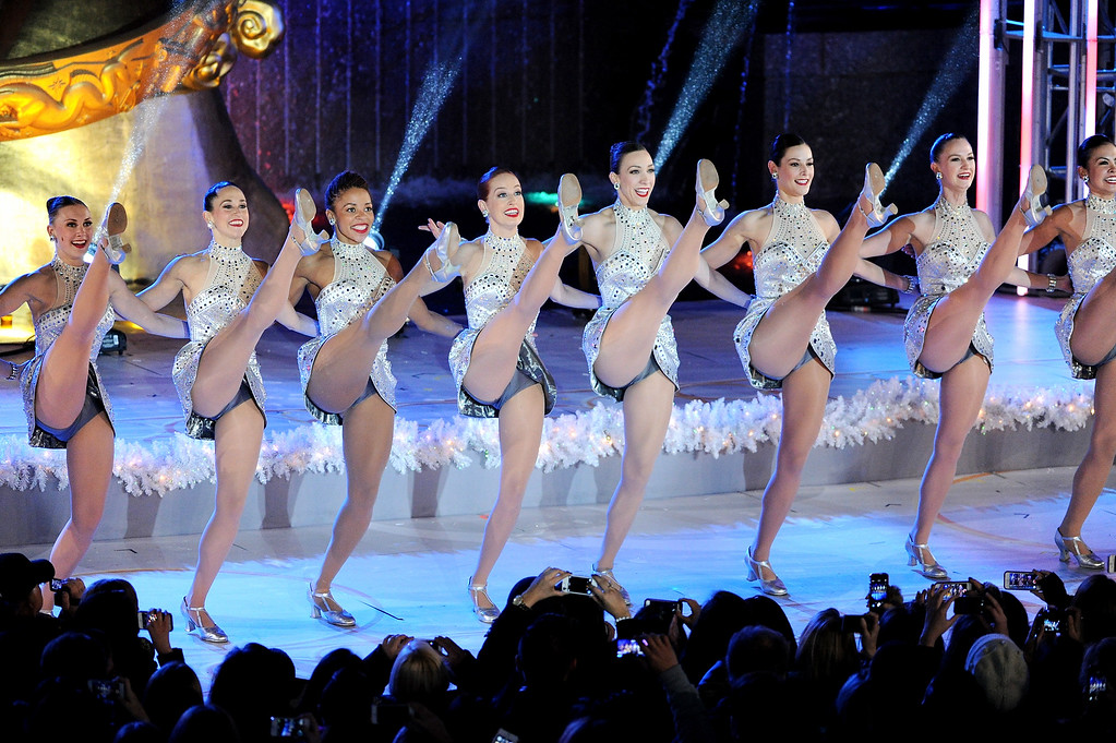 . The Radio City Rockettes perform during the 81st annual Rockefeller Center Christmas tree lighting ceremony on Wednesday, Dec. 4, 2013 in New York. (Photo by Evan Agostini/Invision/AP)
