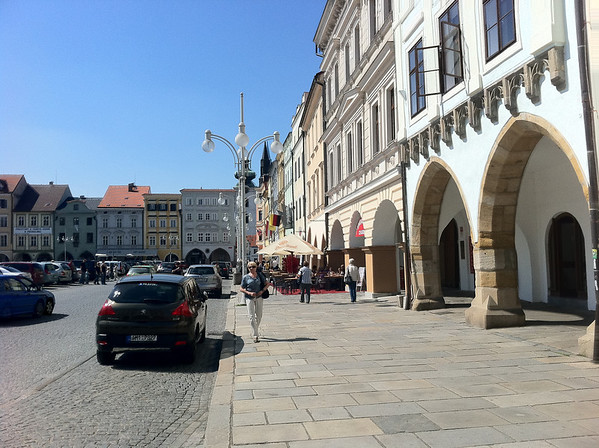 The city center in Budwise where I met the old Czech man