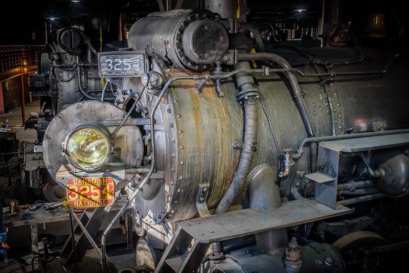 Canadian National Railway Steam Locomotive #3254 at Steamtown