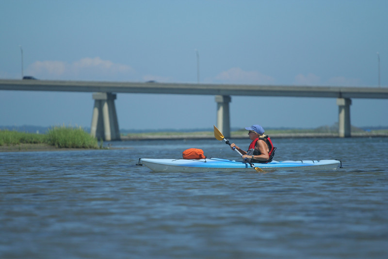 Kayaking off Road K, Hampton Bays.