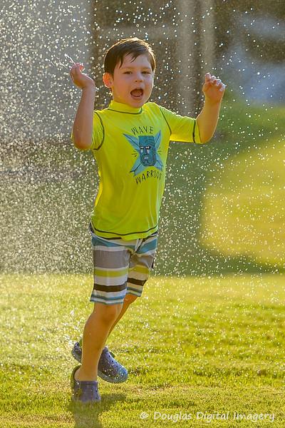 End of Summer Fun in Sprinkler