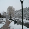 The riverwalk in Estes Park, Colorado.