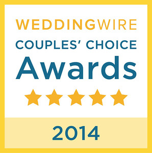 The WeddingWire Couples' Choice Awards™ of 2014 recognizes the top 5 percent of local Wedding Professionals from the WeddingWire Network throughout the United States, Canada and abroad that demonstrate excellence in quality, service, responsiveness and professionalism.