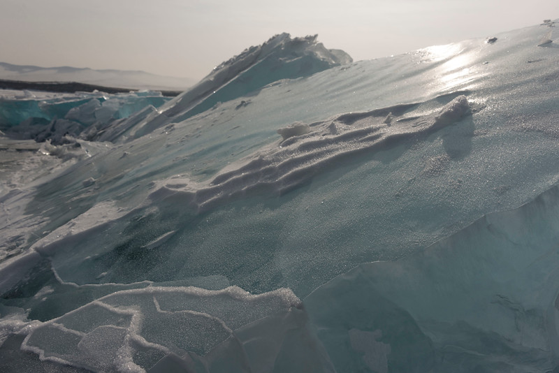 Ice formations and coast at Malyy Kuzhir