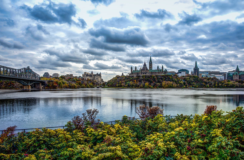 Canada's Parliament from across the Ottawa River