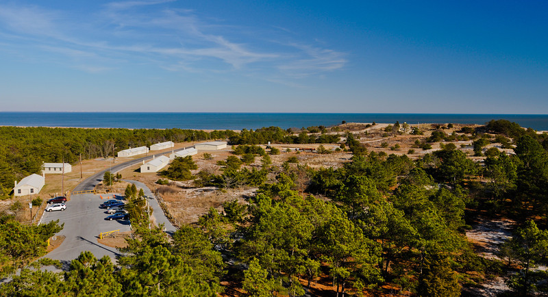 View from World War Two Observation Tower, Cape Henlopen State Park, Delaware