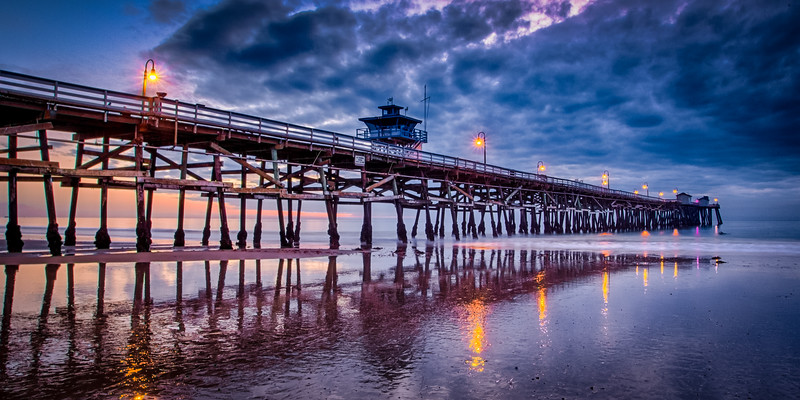San Clemente Pier Nightime Reflections-01.jpg